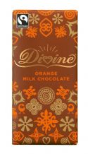 Divine Fairtrade Orange Milk Chocolate 90g